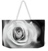 Rose's Whisper Black And White Weekender Tote Bag