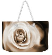 Rose's Whisper Sepia Weekender Tote Bag