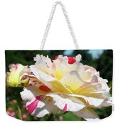 Roses White Pink Yellow Rose Flowers 3 Rose Garden Art Baslee Troutman Weekender Tote Bag