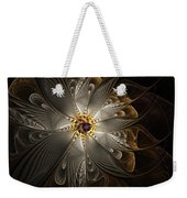 Rosette In Gold And Silver Weekender Tote Bag
