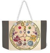 Rosicrucian Rose Weekender Tote Bag