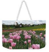 Rosy Field Weekender Tote Bag
