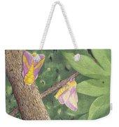 Rosy Maple Moth Gathering Weekender Tote Bag