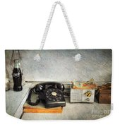 Rotary Dial Phone In Black S And H Stamps Weekender Tote Bag