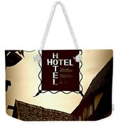 Rothenburg Hotel Sign - Digital Weekender Tote Bag