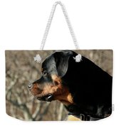 Rottie Profile Weekender Tote Bag