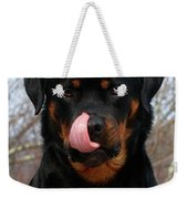 Rottweiler Missed A Spot Weekender Tote Bag