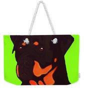Rottweiler With Green Weekender Tote Bag