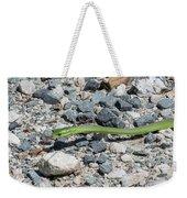 Rough Green Snake Weekender Tote Bag