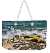 Rough Seas At Blowing Rock Weekender Tote Bag