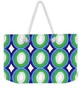 Round And Round Blue And Green- Art By Linda Woods Weekender Tote Bag