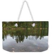Round Lake At Lacamas Park In Fall Weekender Tote Bag