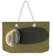 Round Rock And Shadow On Sand Dollar Weekender Tote Bag