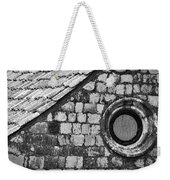 Round Window - Black And White Weekender Tote Bag