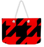 Rounded Houndstooth Black Background 02-p0123 Weekender Tote Bag
