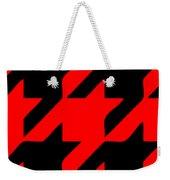 Rounded Houndstooth Black Pattern 02-p0123 Weekender Tote Bag