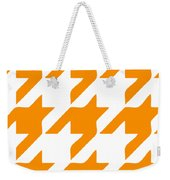 Rounded Houndstooth White Background 03-p0123 Weekender Tote Bag