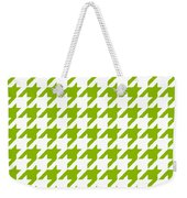 Rounded Houndstooth White Background 09-p0123 Weekender Tote Bag