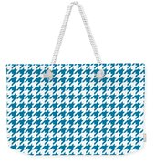 Rounded Houndstooth White Background 18-p0123 Weekender Tote Bag