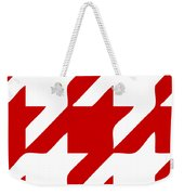 Rounded Houndstooth White Pattern 02-p0123 Weekender Tote Bag