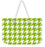 Rounded Houndstooth White Pattern 09-p0123 Weekender Tote Bag