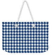 Rounded Houndstooth White Pattern 18-p0123 Weekender Tote Bag
