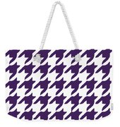 Rounded Houndstooth With Border In Purple Weekender Tote Bag