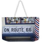 Route 66 Bench Weekender Tote Bag