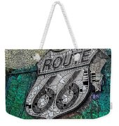 Route 66 Digital Stained Glass Weekender Tote Bag