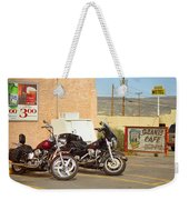 Route 66 - Grants New Mexico Motorcycles Weekender Tote Bag