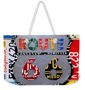 Route 66 Highway Road Sign License Plate Art Weekender Tote Bag