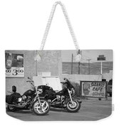 Route 66 Motorcycles Bw Weekender Tote Bag