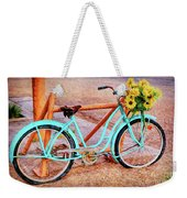 Route 66 Vintage Bicycle Weekender Tote Bag