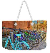 Row Of Student Bikes At Princeton University Nj Weekender Tote Bag