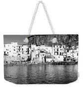 Rowboat Along An Idyllic Sicilian Village. Weekender Tote Bag