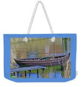 Rowboat And Blue Reflections Weekender Tote Bag