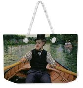 Rower In A Top Hat Weekender Tote Bag by Gustave Caillebotte