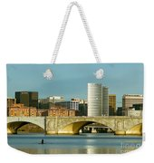 Rower On The Potomac River I Weekender Tote Bag