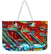 Rowhouses And Hockey Weekender Tote Bag
