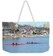 Rowing Along The Schuylkill River Weekender Tote Bag