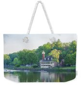 Rowing Along The Schuylkill River In Philadelphia Weekender Tote Bag