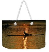 Rowing At Sunset 3 Weekender Tote Bag