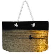 Rowing At Sunset Weekender Tote Bag by Bill Cannon