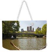 Rowing In Central Park Weekender Tote Bag