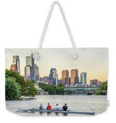 Rowing The Schuylkill - Philadelphia Cityscape Weekender Tote Bag
