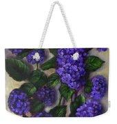 Royal Blue Hydrangea Weekender Tote Bag