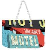 Roy's Motel Cafe Pop Art Weekender Tote Bag by Jim Zahniser