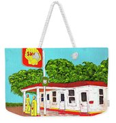 Rt 66 Shell Station Weekender Tote Bag