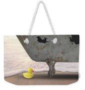 Rubber Ducky Bathtub Beach Surreal Weekender Tote Bag