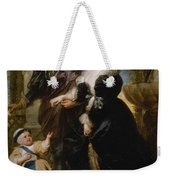 Rubens His Wife Helena Fourment 16141673 And Their Son Frans 16331678 Weekender Tote Bag